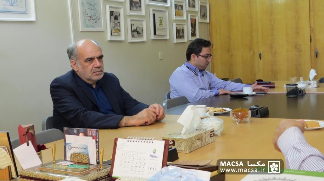 نمایندگان بنیاد شهید در مکسا