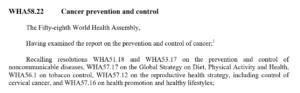 قطعنامه 58.22 سازمان جهانی بهداشت